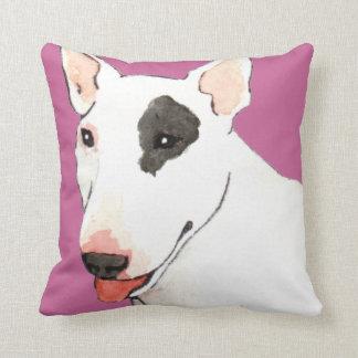 I Love my Bull Terrier Throw Pillow