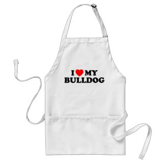 I Love my Bulldog Apron