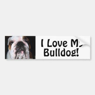 I Love My, Bulldog! Bumper Sticker