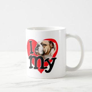 I Love my Bulldog Classic White Coffee Mug