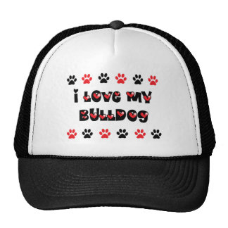 I Love My Bulldog Trucker Hat
