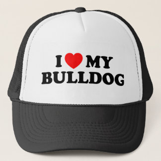 I Love my Bulldog Hat