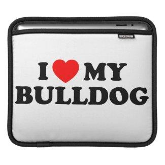 I Love my Bulldog iPad & Laptop Sleeve