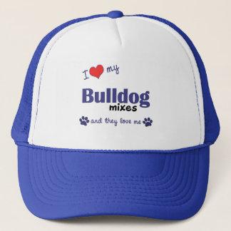 I Love My Bulldog Mixes (Multiple Dogs) Trucker Hat
