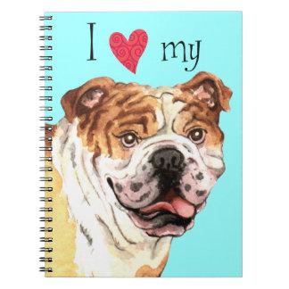 I Love my Bulldog Notebook