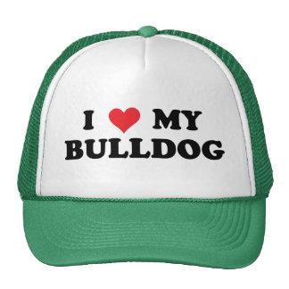 I Love My Bulldog Trucker Hat