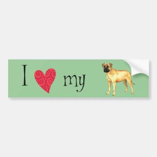 I Love my Bullmastiff Bumper Sticker