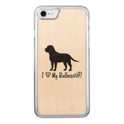 Carved Apple iPhone 7 Wood Case with Bullmastiff Phone Cases design