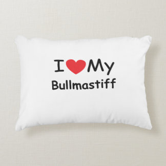 I love my Bullmastiff dog Accent Pillow