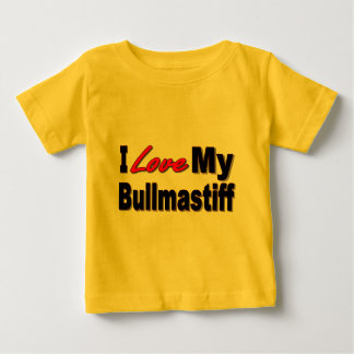 I Love My Bullmastiff Dog Merchandise Baby T-Shirt