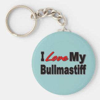 I Love My Bullmastiff Dog Merchandise Keychains