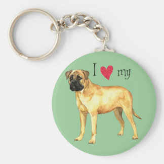 I Love my Bullmastiff Keychain
