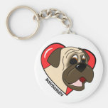 I Love my Bullmastiff Keychain (Cartoon)