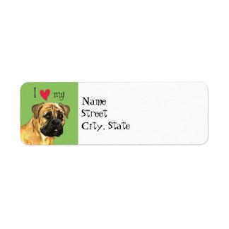 I Love my Bullmastiff Label
