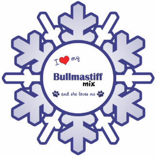 I Love My Bullmastiff Mix (Female Dog) Cutout