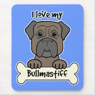 I Love My Bullmastiff Mouse Mat
