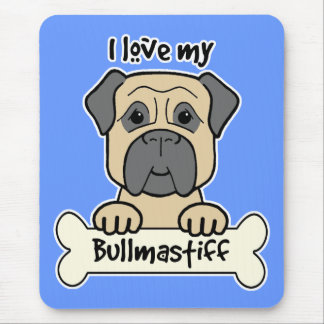 I Love My Bullmastiff Mouse Mats