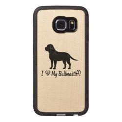 Carved Samsung Galaxy S6 Edge Bumper Wood Case with Bullmastiff Phone Cases design