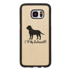 Carved Samsung Galaxy S7 Edge Wood Case with Bullmastiff Phone Cases design