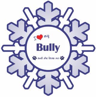 I Love My Bully (Female Dog) Photo Sculpture Ornament