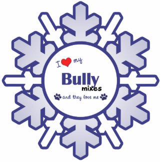 I Love My Bully Mixes (Multiple Dogs) Photo Sculpture Ornament