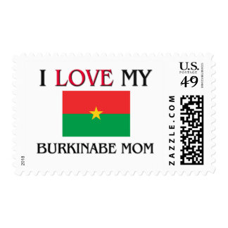 I Love My Burkinabe Mom Stamp