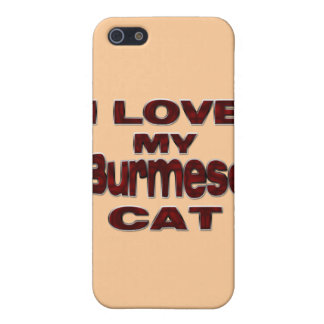 I LOVE MY BURMESE CAT iPhone SE/5/5s COVER
