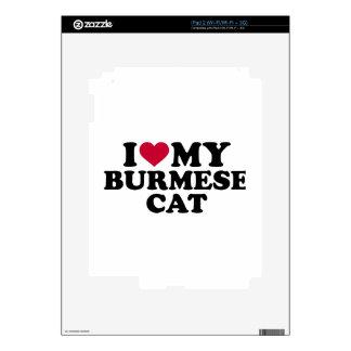 I love my burmese cat iPad 2 decal