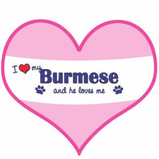 I Love My Burmese (Male Cat) Statuette