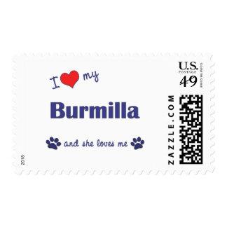 I Love My Burmilla (Female Cat) Postage Stamps