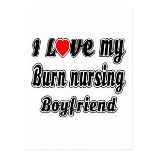 I love my Burn nursing Boyfriend Postcard
