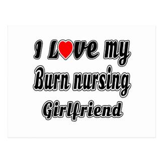 I love my Burn nursing Girlfriend Postcard