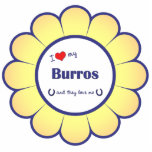 I Love My Burros (Multiple Burros) Photo Cut Outs