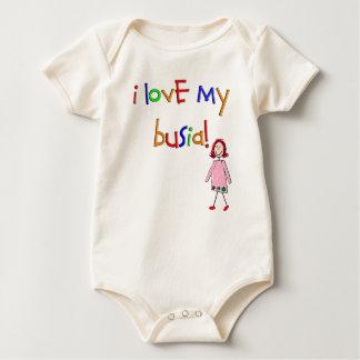 I Love my Busia (Polish Grandmother) Baby Bodysuit