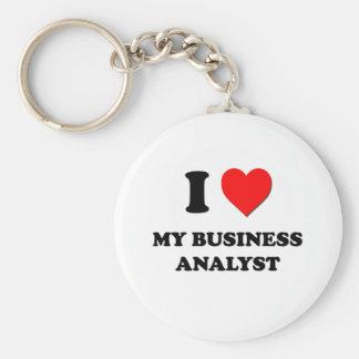 I love My Business Analyst Keychain