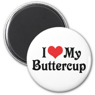 I Love My Buttercup Refrigerator Magnets
