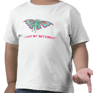 I Love My Butterfly T Shirts
