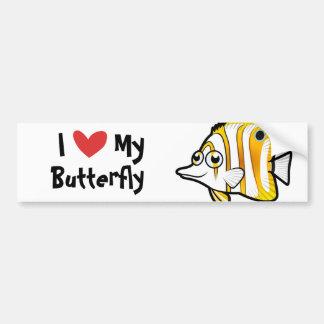 I Love My Butterflyfish Bumper Sticker