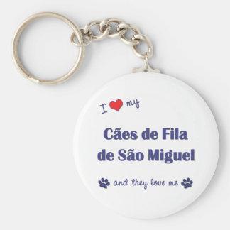I Love My Caes de Fila de Sao Miguel (Multi Dogs) Basic Round Button Keychain