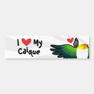 I Love My Caique / Lovebird / Pionus / Parrot Bumper Sticker