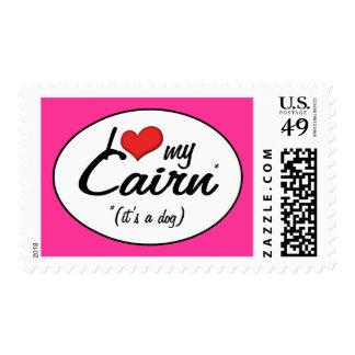 I Love My Cairn (It's a Dog) Postage Stamp