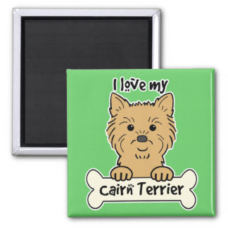 I Love My Cairn Terrier 2 Inch Square Magnet