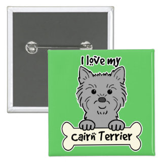 I Love My Cairn Terrier Button