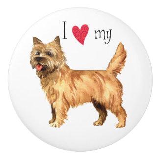 I Love my Cairn Terrier Ceramic Knob