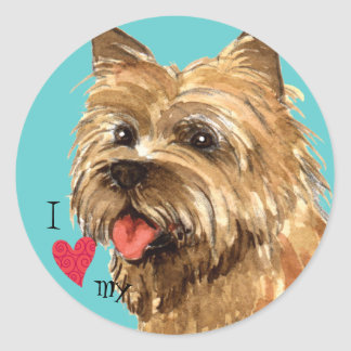 I Love my Cairn Terrier Classic Round Sticker