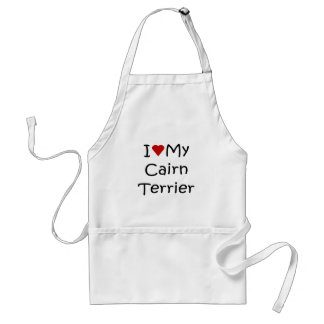 I Love My Cairn Terrier Dog Lover Gifts Adult Apron