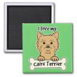 I Love My Cairn Terrier Fridge Magnet