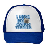 I Love My Cairn Terrier Hat
