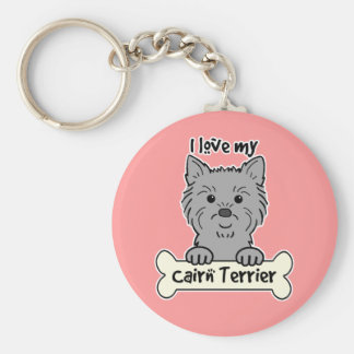 I Love My Cairn Terrier Keychain