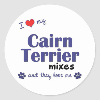 I Love My Cairn Terrier Mixes (Multiple Dogs) Classic Round Sticker